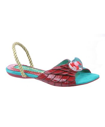 Dark Red Toe Treat Sandal