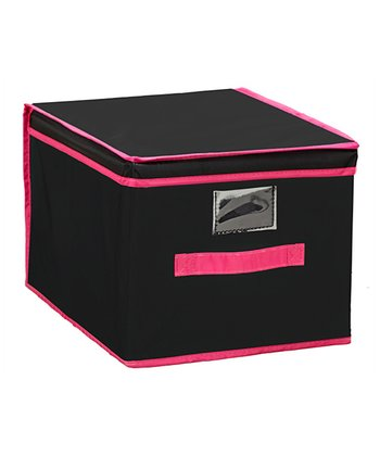 Black & Pink Large Storage Box