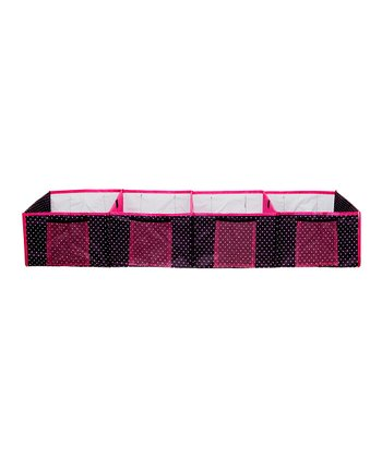 Black & Pink Polka Dot Four-Compartment Trunk Organizer