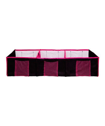 Black & Pink Three-Compartment Trunk Organizer