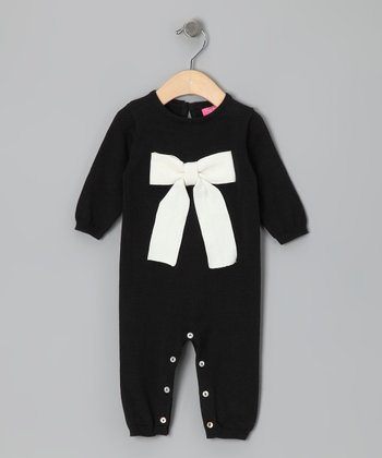 New York-Designed Black Bow Playsuit