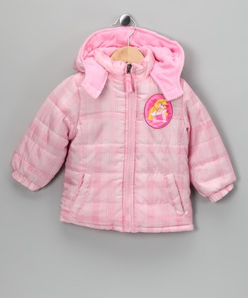 Pink Plaid Sleeping Beauty Puffer Coat - Infant & Toddler