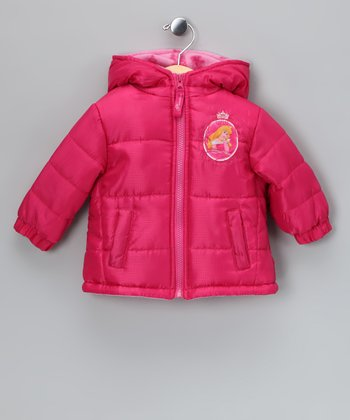 Fuchsia Sleeping Beauty Puffer Coat - Infant & Toddler