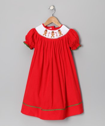 Itsy Bitsy Boutique Red Gingerbread Bishop Dress