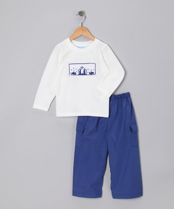 Itsy Bitsy Boutique Navy & White Nativity Tee & Pants