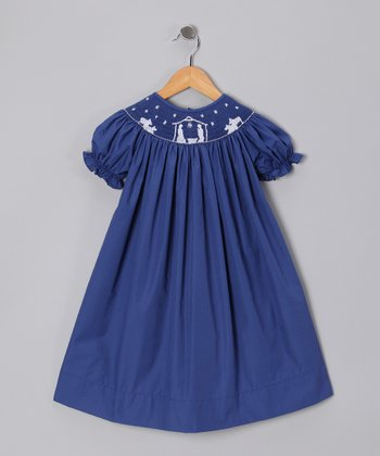 Itsy Bitsy Boutique Navy Nativity Bishop Dress