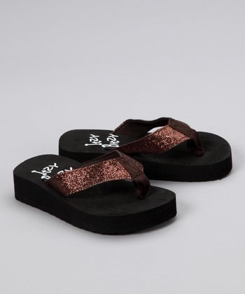 Brown Sparkle Flip-Flop