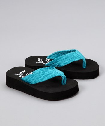 Teal Braid Flip-Flop