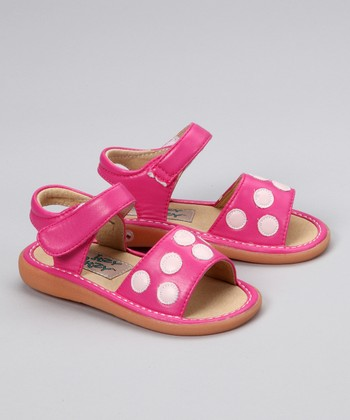 Hot Pink & Light Pink Karsyn Squeaker Sandal
