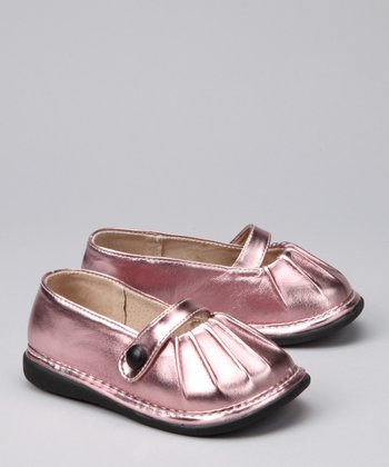 Light Pink Metallic Chloe Squeaker Ballet Flat