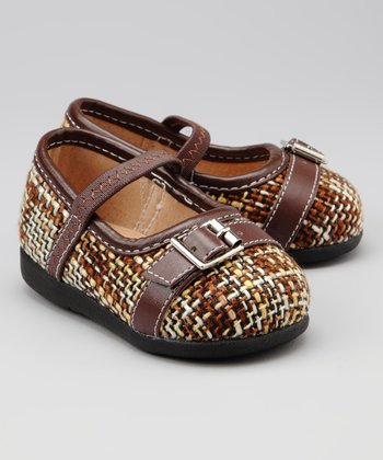 Brown & Tan Tweed Squeaker Flat