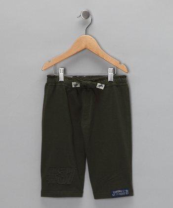 Olive Shorts - Infant & Toddler