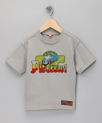 Light Gray 'Pit Crew' Tee - Infant, Toddler & Boys