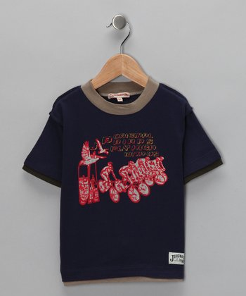 Navy Fly Vintage Tee - Infant, Toddler & Boys