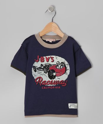 Navy 'Raceway' Tee - Infant & Toddler