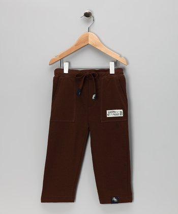 Dark Brown French Terry Pants - Infant, Toddler & Boys