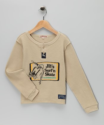 Tan 'Surf 'n Skate' Thermal Henley - Infant, Toddler & Boys