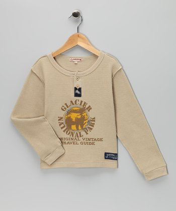 Tan 'Glacier' Thermal Henley - Infant, Toddler & Boys