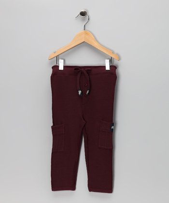 Burgundy Thermal Cargo Pants - Infant, Toddler & Boys