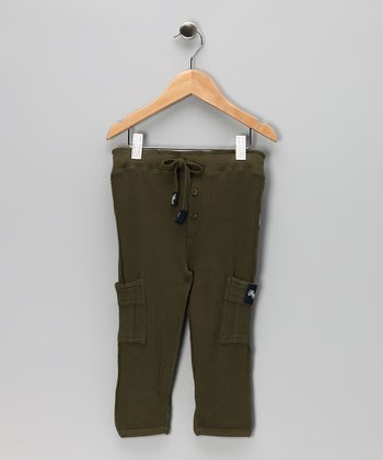 Hunter Green Thermal Cargo Pants - Infant, Toddler & Boys