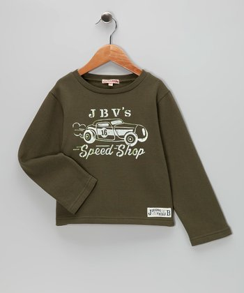 Olive 'Speed Shop' Fleece Tee - Infant, Toddler & Boys