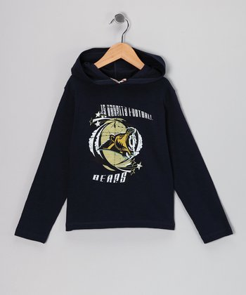 Navy 'Bears' Football Hooded Tee - Infant, Toddler & Boys