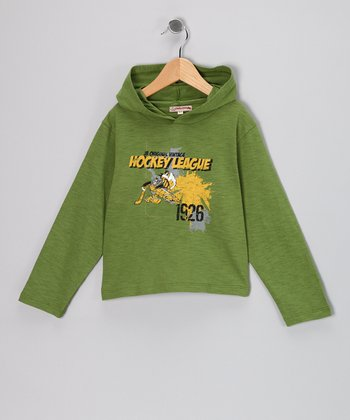 Green 'Hockey League' Hooded Tee - Infant & Toddler