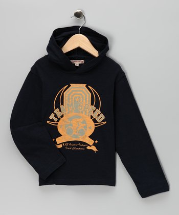 Navy 'Team Speed' Hooded Tee - Infant, Toddler & Boys