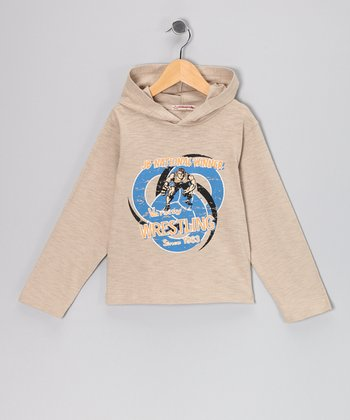 Pearl Gray 'Wrestling' Hooded Tee - Infant, Toddler & Boys
