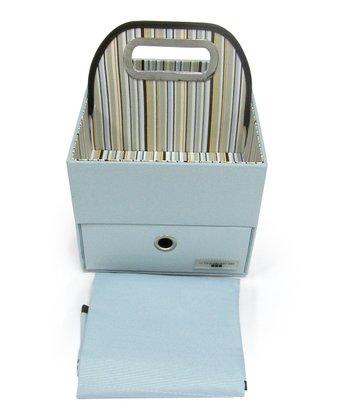 JJ Cole Blue Stripe''  Diaper Caddy