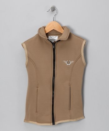 JPC Tan Unifleece Vest - Girls