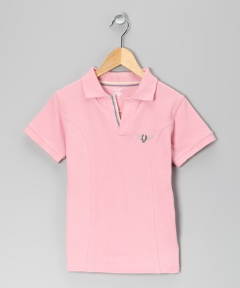 Pink Horseshoe Polo - Girls