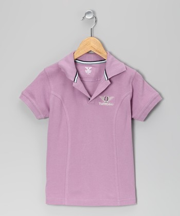 Lilac Horseshoe Polo - Girls