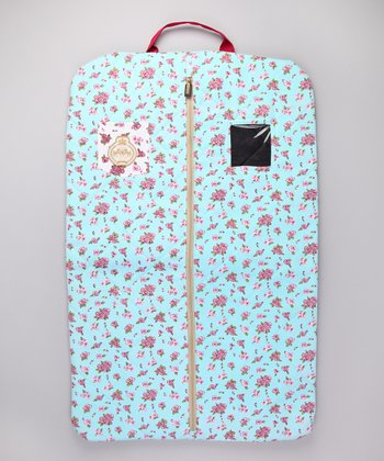 Blue Floral Garment Bag
