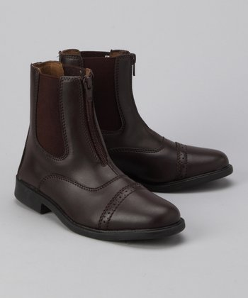 Brown Zip Paddock Boot - Kids