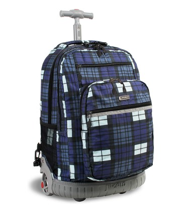 Navy Tartan Sundance Wheeled Backpack