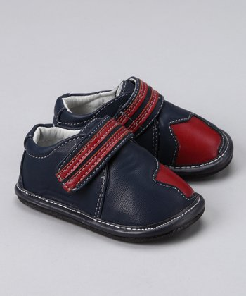 Navy & Red Star Booties