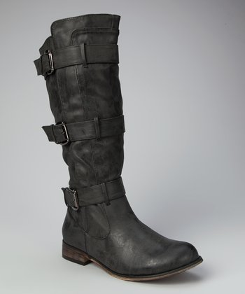 Black Rider Knee-High Boot