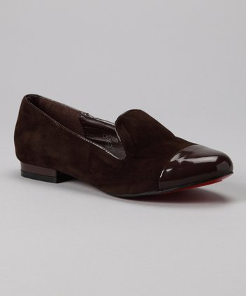 Brown Crown Slip-On Shoe
