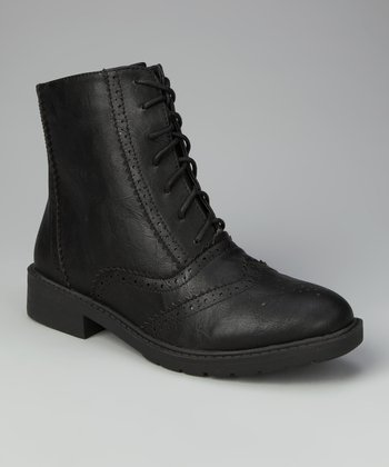 Black Oxford Ankle Boot