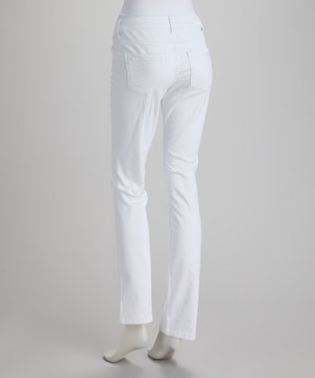 White New Jane Mid-Rise Slim Jeans