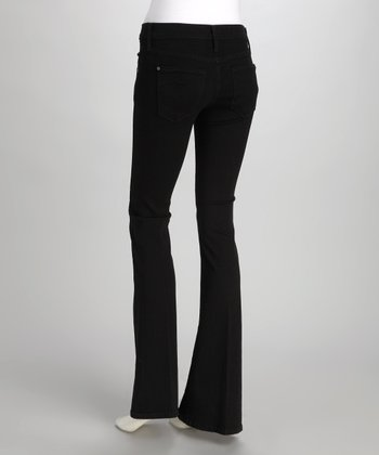 James Jeans Black Clean Bootcut Jeans