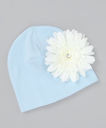 Baby Blue Daisy Beanie - Infant, Toddler & Girls