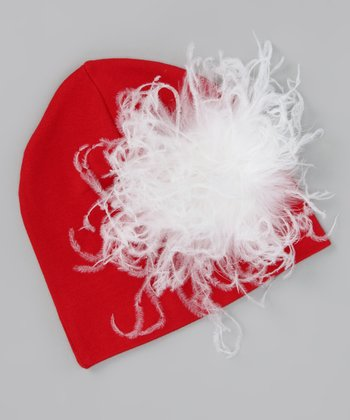 Red Feather Beanie - Infant