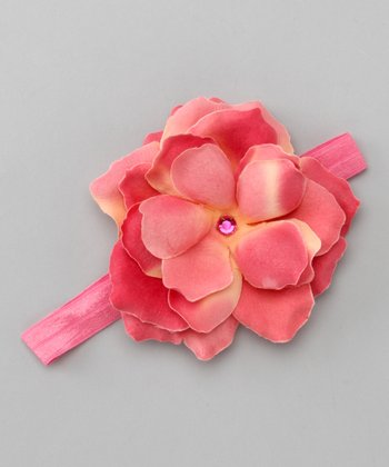 Candy Pink Rose Headband