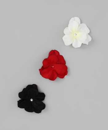 Jolly Geranium Clip Set