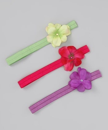 Bright Geranium Headband Set - Infant