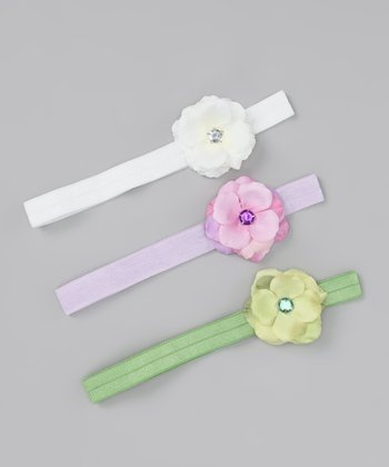 Pastel Rose Headband Set - Infant