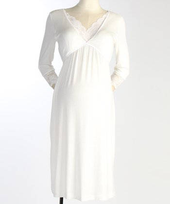 Ivory Maternity & Nursing Nightgown