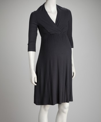 Smoke Modal Maternity & Nursing Dress